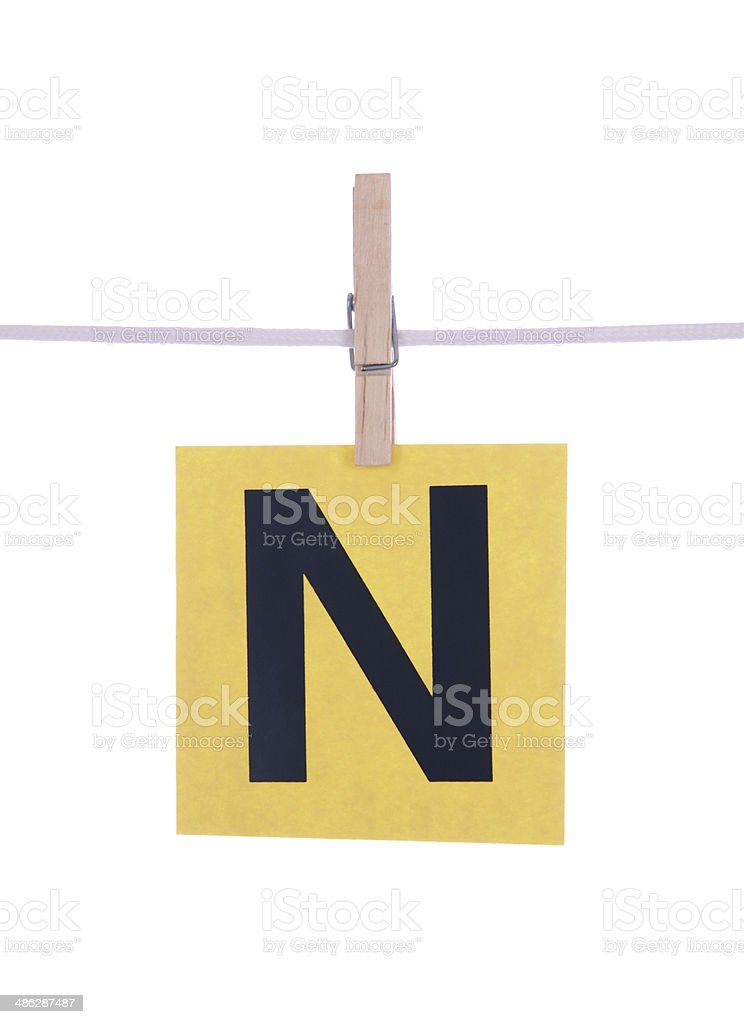 Letter N royalty-free stock photo