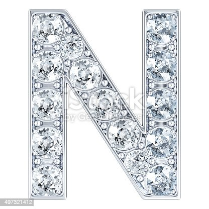M Letter In Black Diamonds Letter N With D...