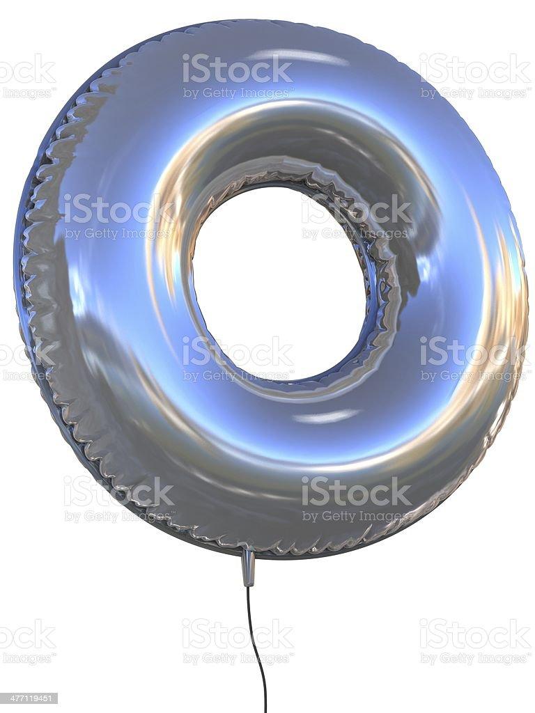 letter O balloon font stock photo