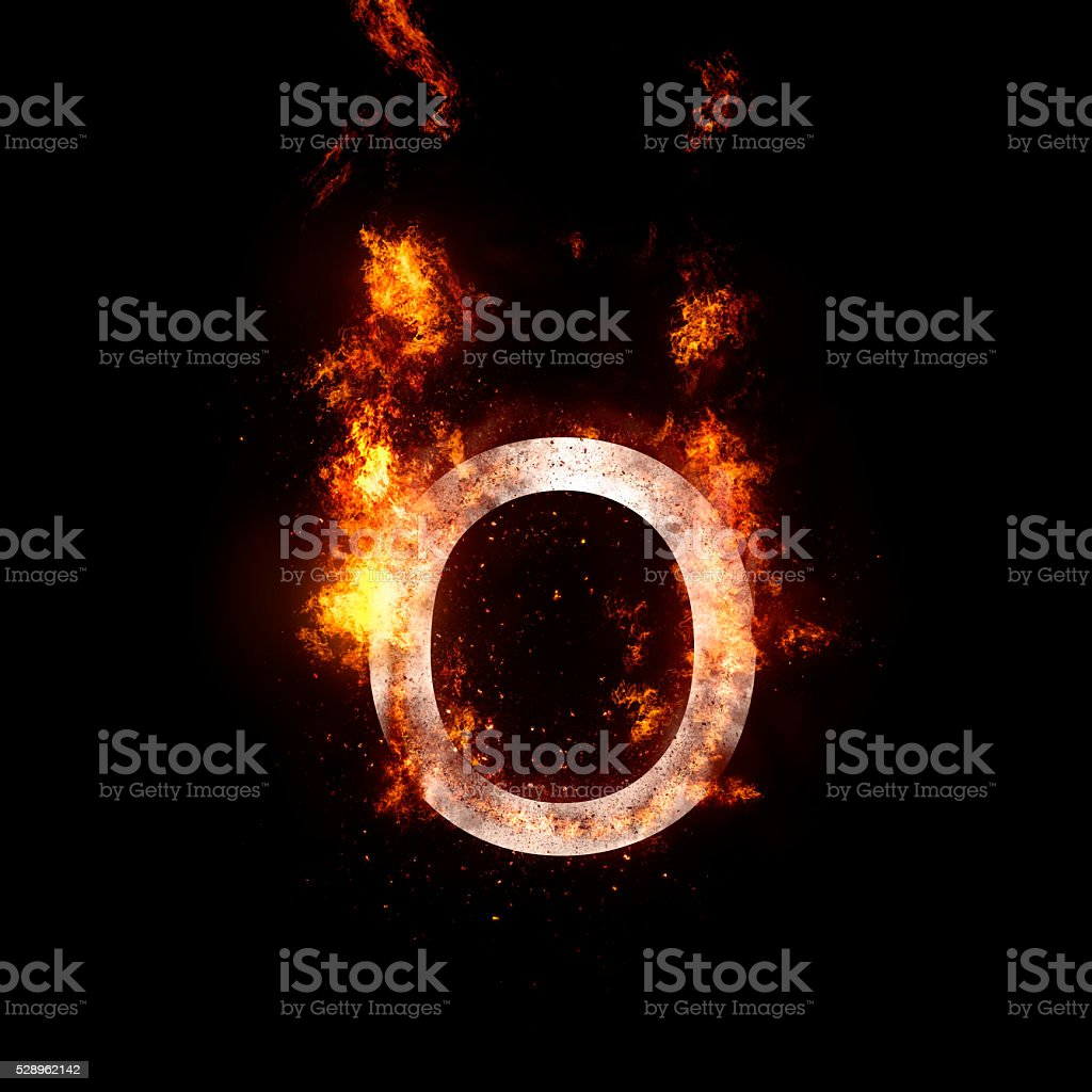 letter O stock photo