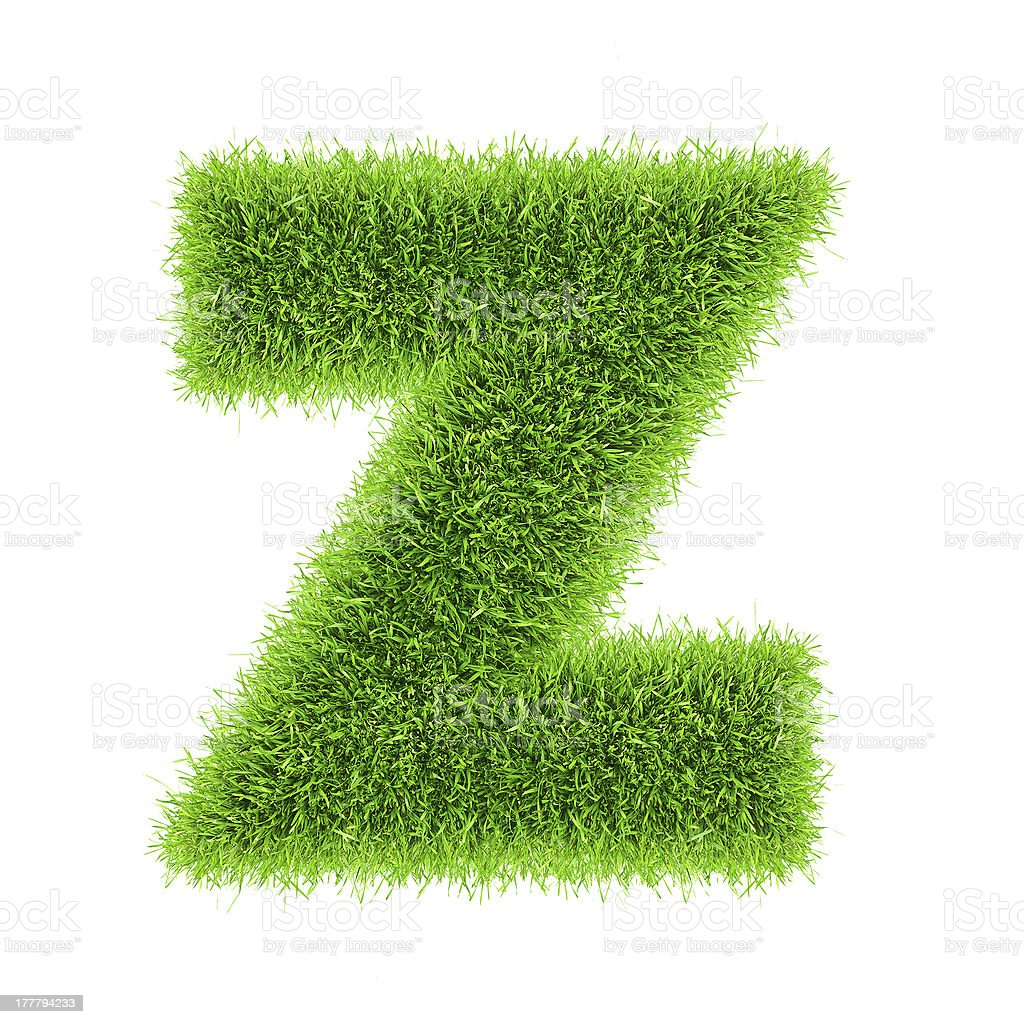 letter of grass alphabet royalty-free stock photo