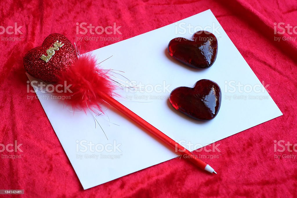 'Letter of love' royalty-free stock photo