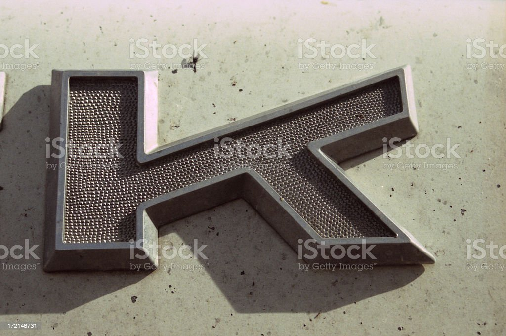 Letter of Steel royalty-free stock photo