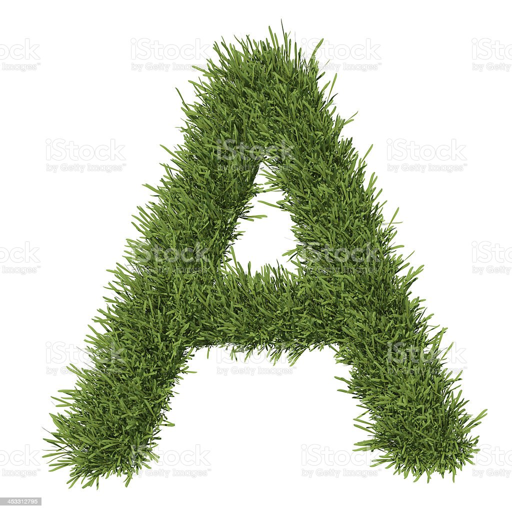 Letter of the alphabet made from grass stock photo