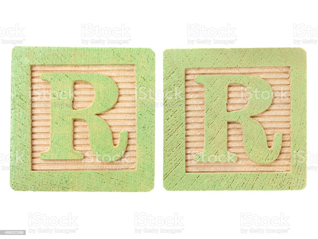 letter on cardboard stock photo