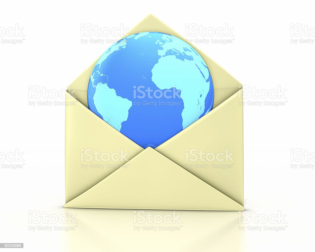 Letter open earth new stock photo