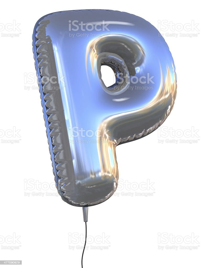 letter P balloon font stock photo