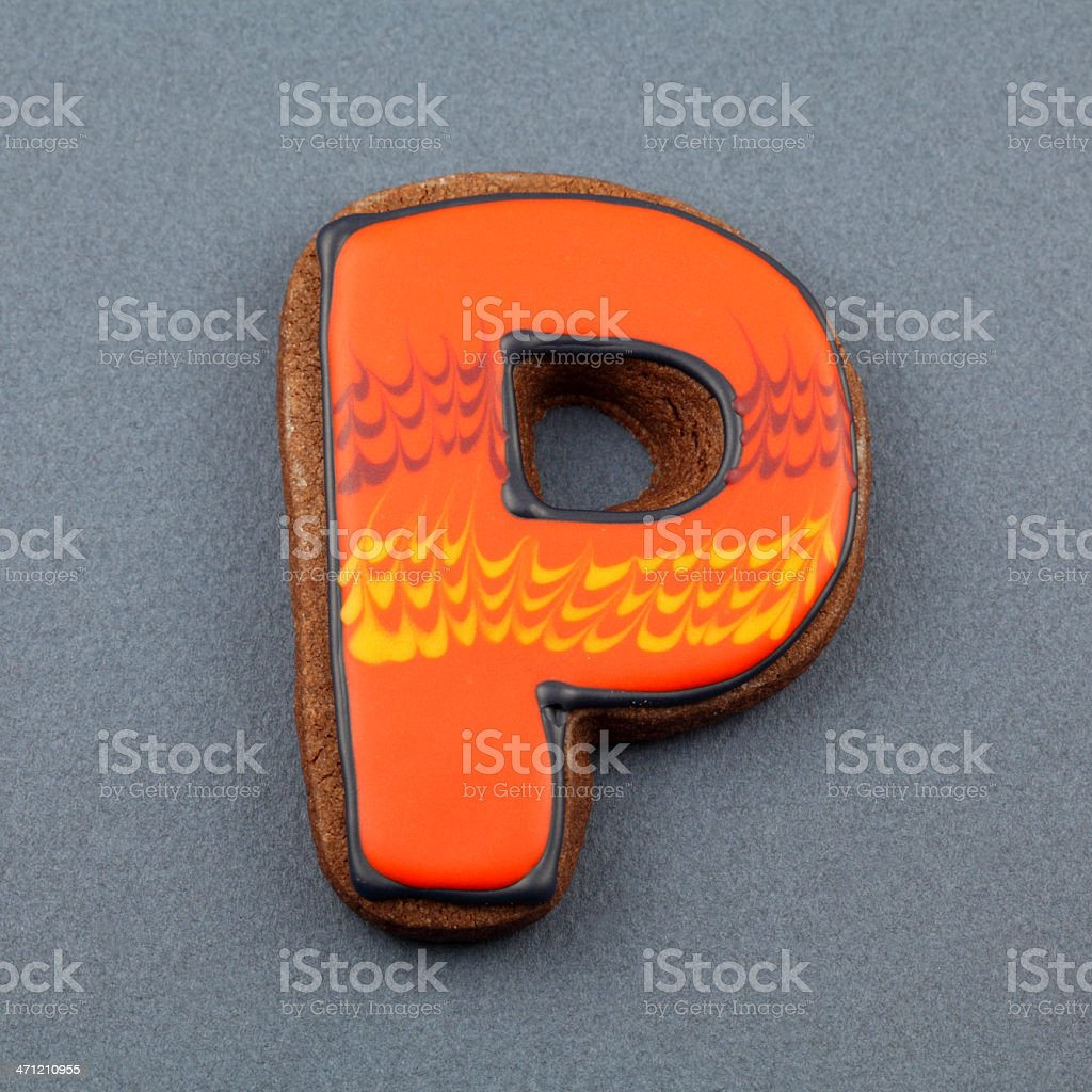Letter P Cookie royalty-free stock photo