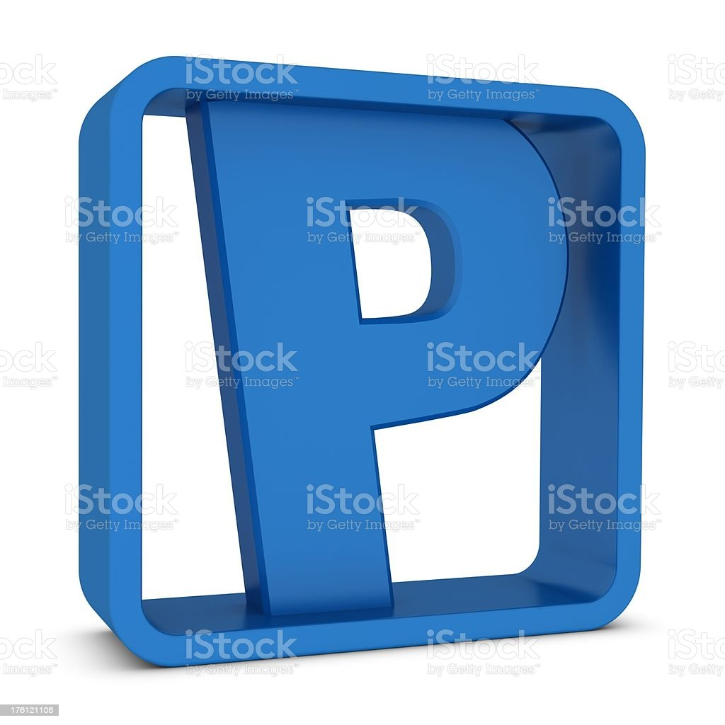 Letter P royalty-free stock photo