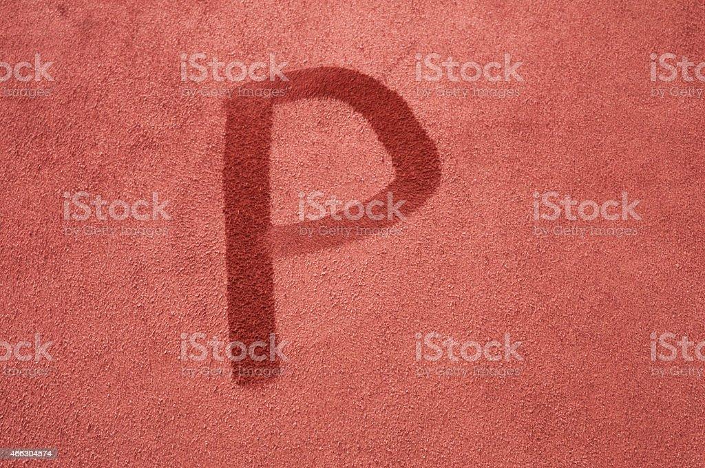 Letter P stock photo