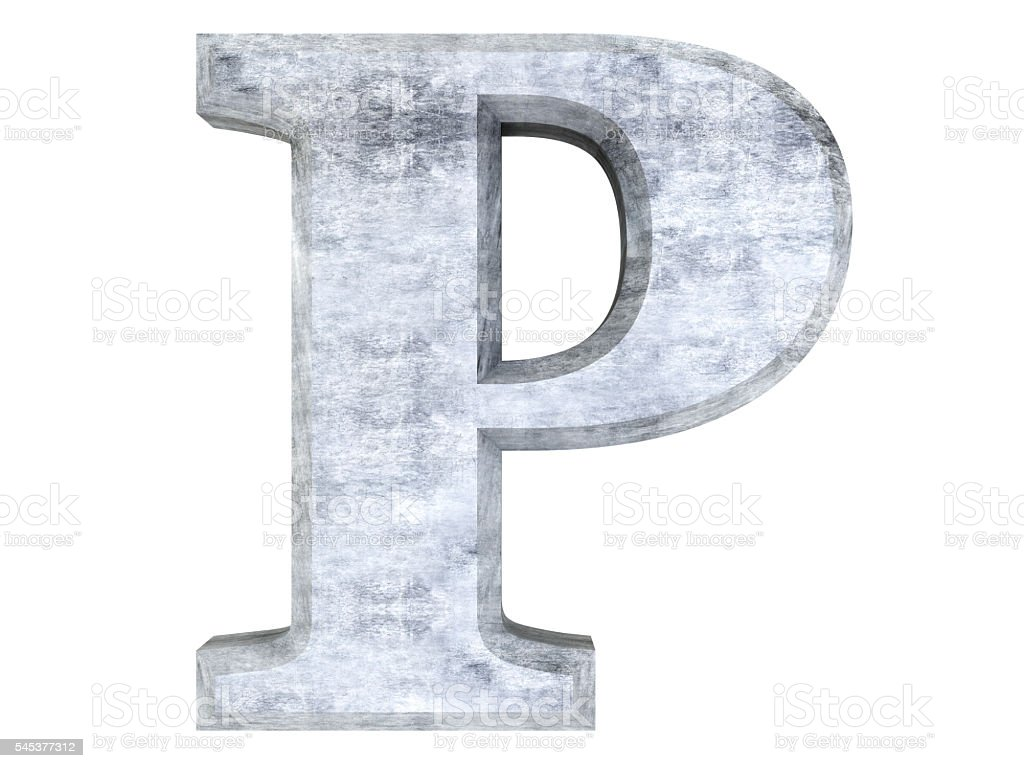 Letter P stock photo