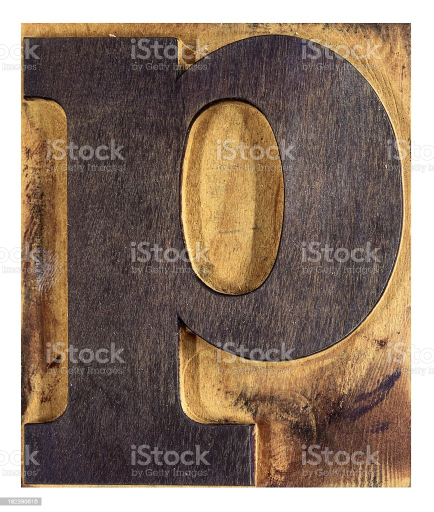 Letter P, XL royalty-free stock photo