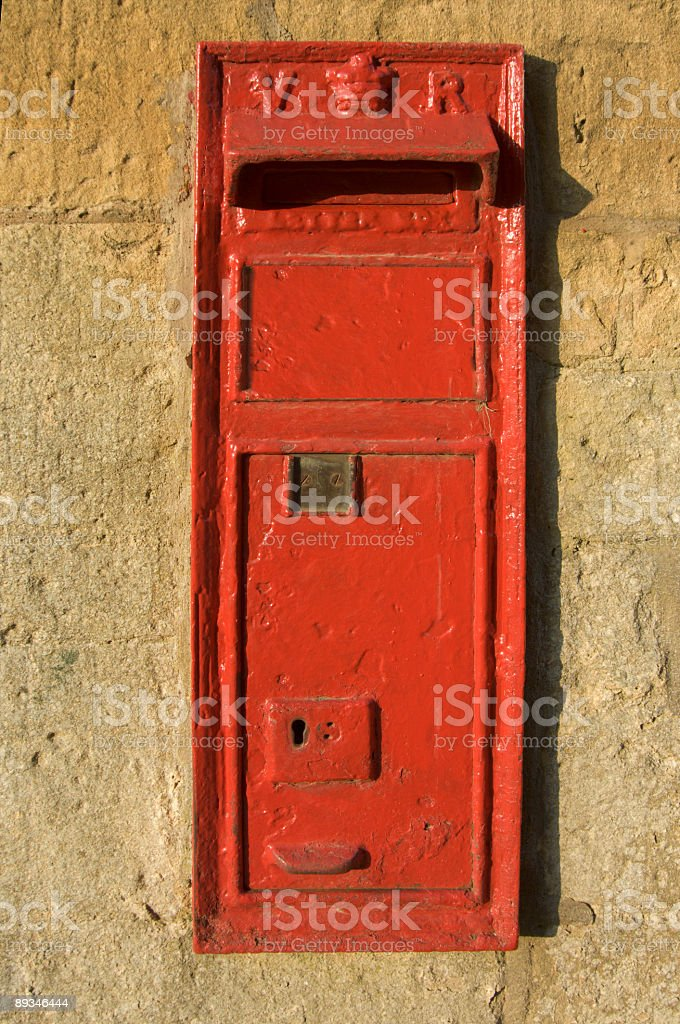 letter posting box in wall royalty-free stock photo