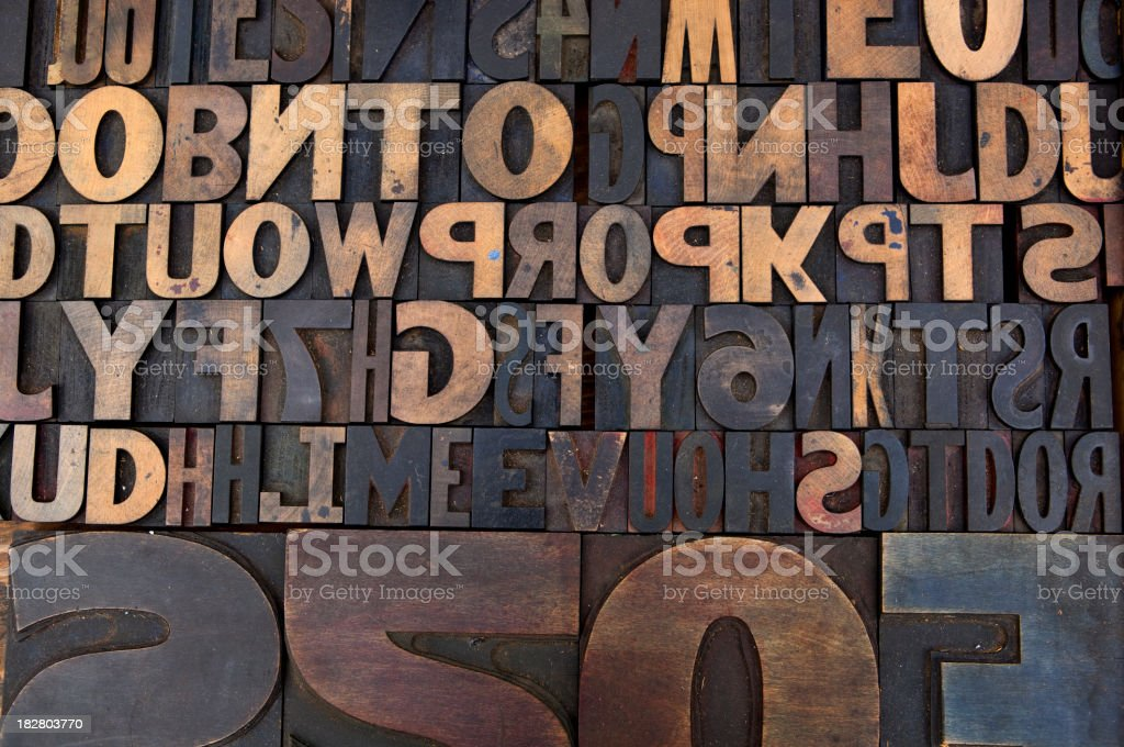Letter Press Blocks stock photo
