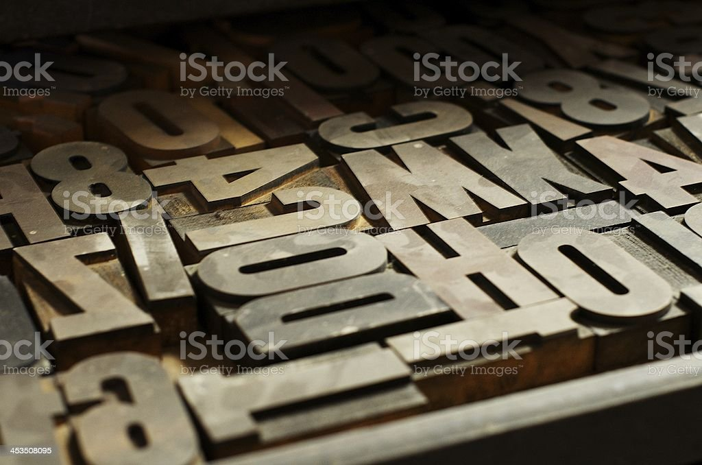 Letter Press Blocks royalty-free stock photo