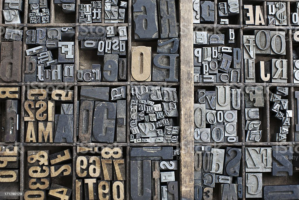 Letter Press stock photo