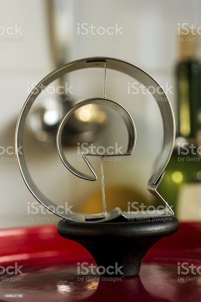 Letter Q kitchen alphabet royalty-free stock photo