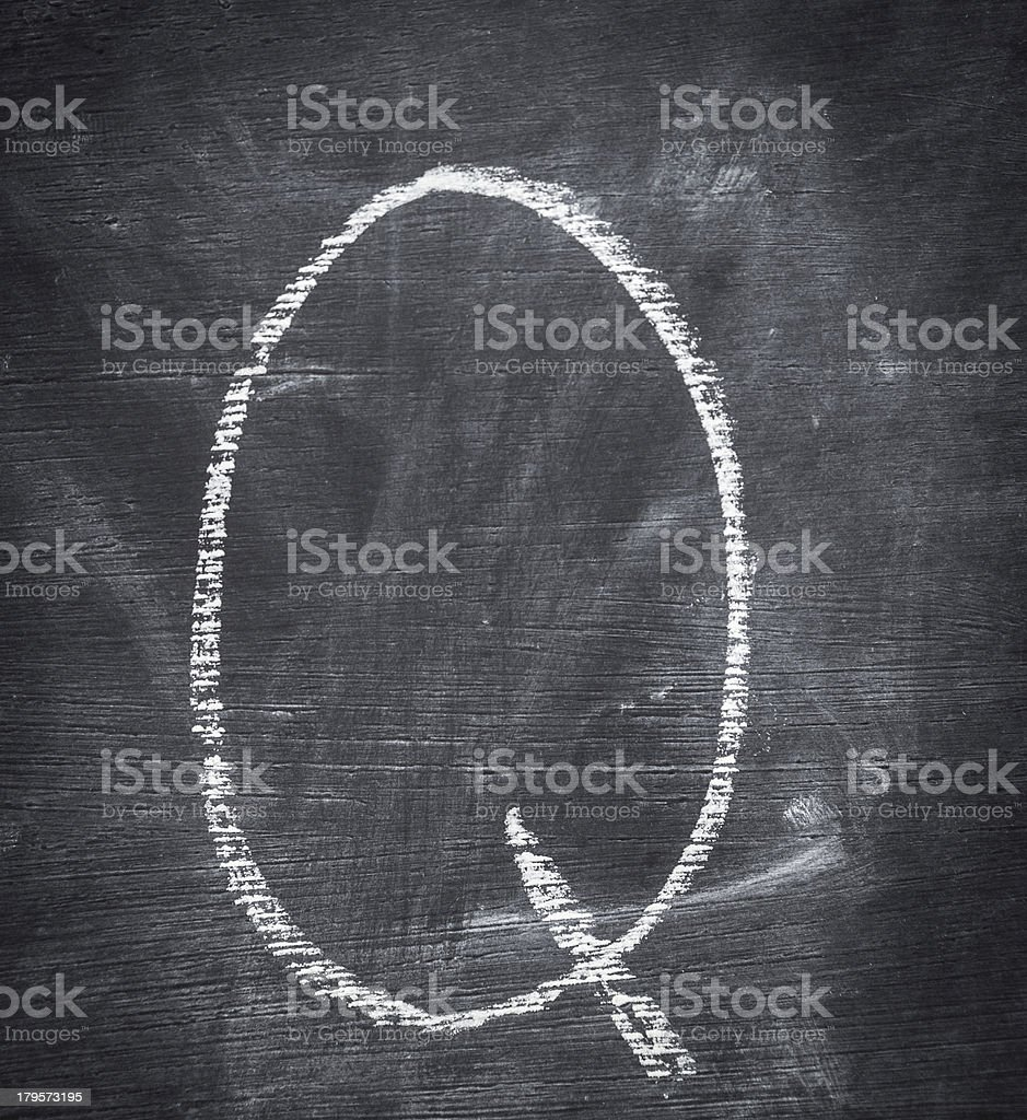 Letter Q. royalty-free stock photo