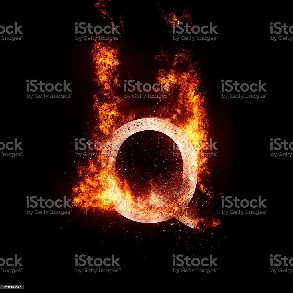 letter Q stock photo