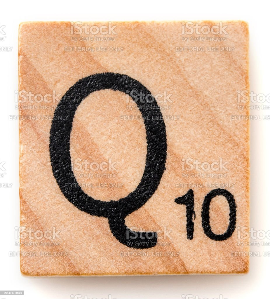 Letter Q stock photo