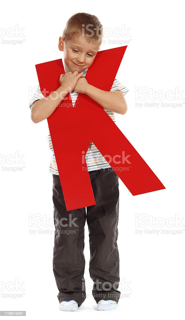 "Letter ""K"" boy royalty-free stock photo"