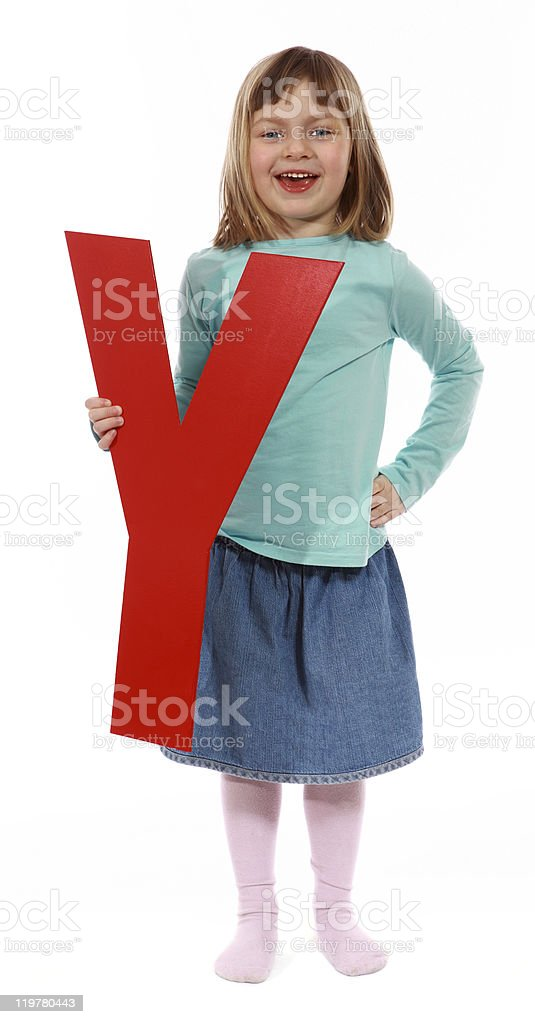 "Letter ""Y"" girl royalty-free stock photo"