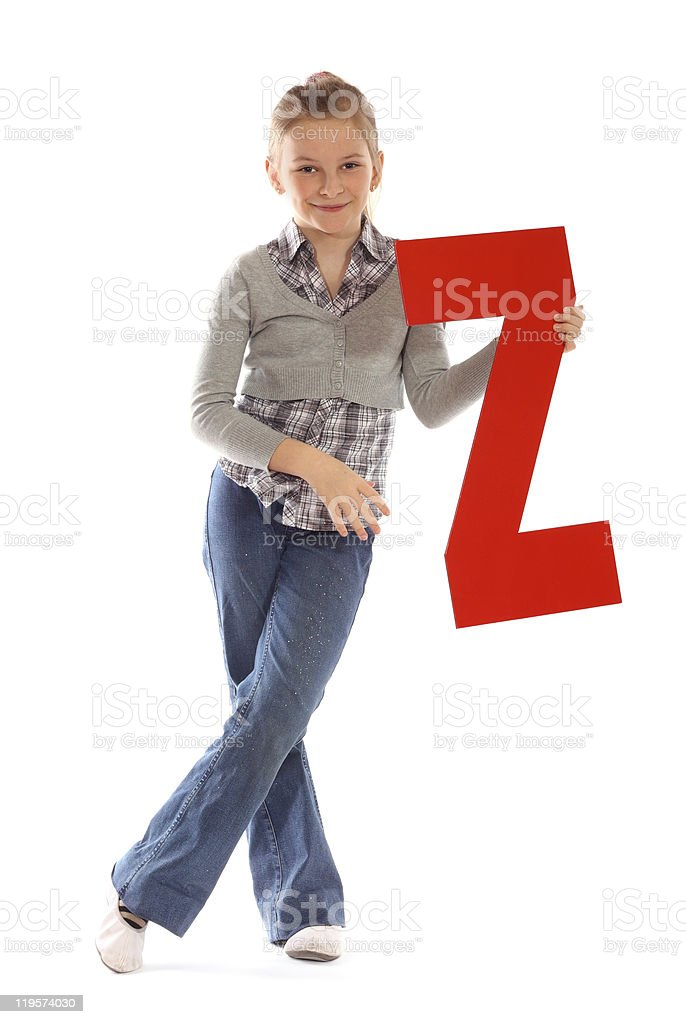 "Letter ""Z"" girl stock photo"