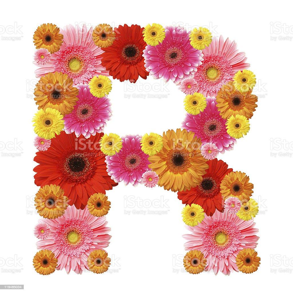 Буквы в цветах фото