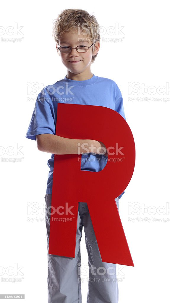 Letter 'R' stock photo