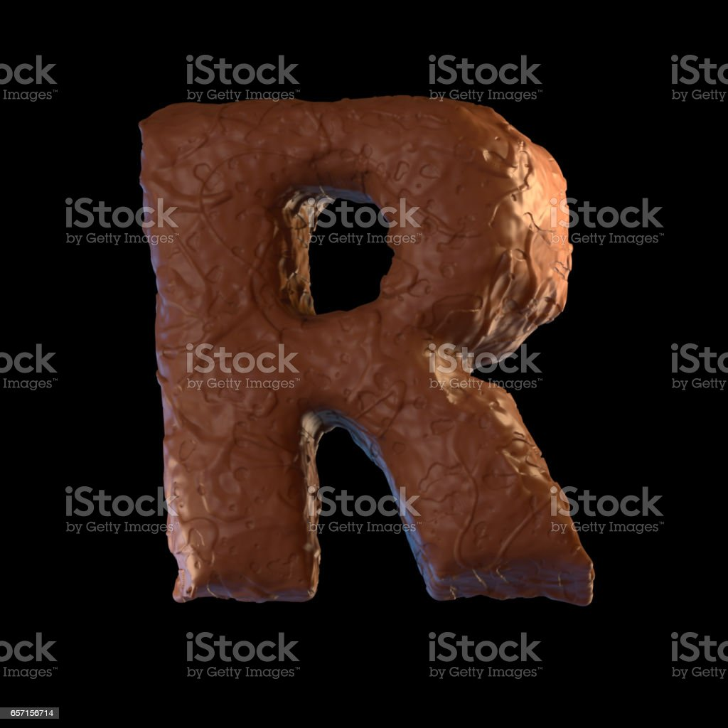Letter R stock photo