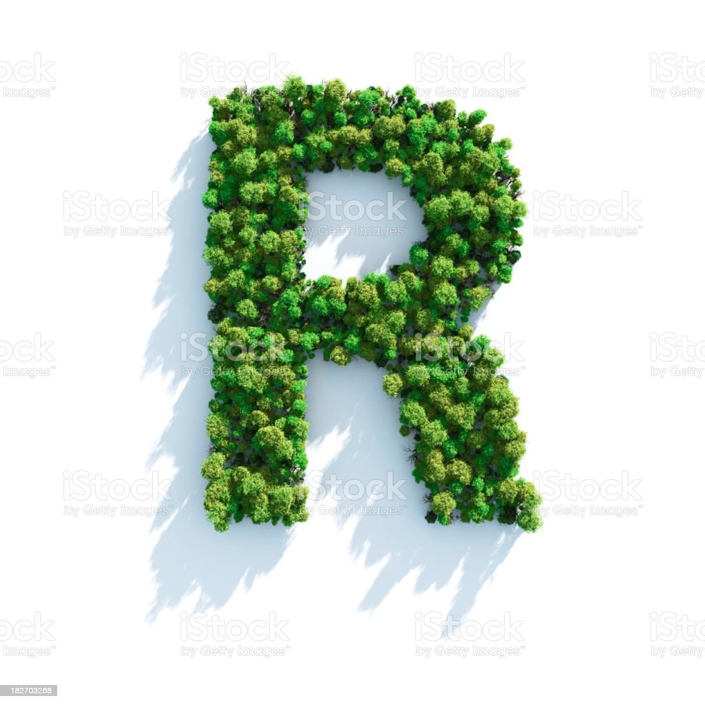 Letter R: Top View royalty-free stock photo