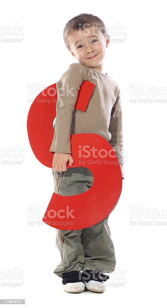 Letter 'S' boy royalty-free stock photo