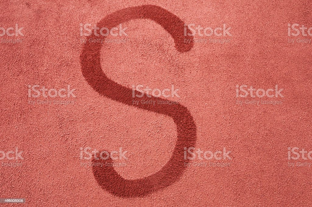 Letter S stock photo