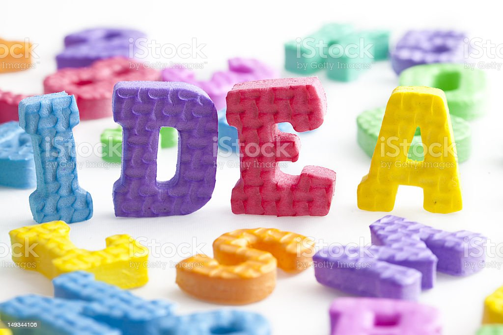 Letter series stock photo