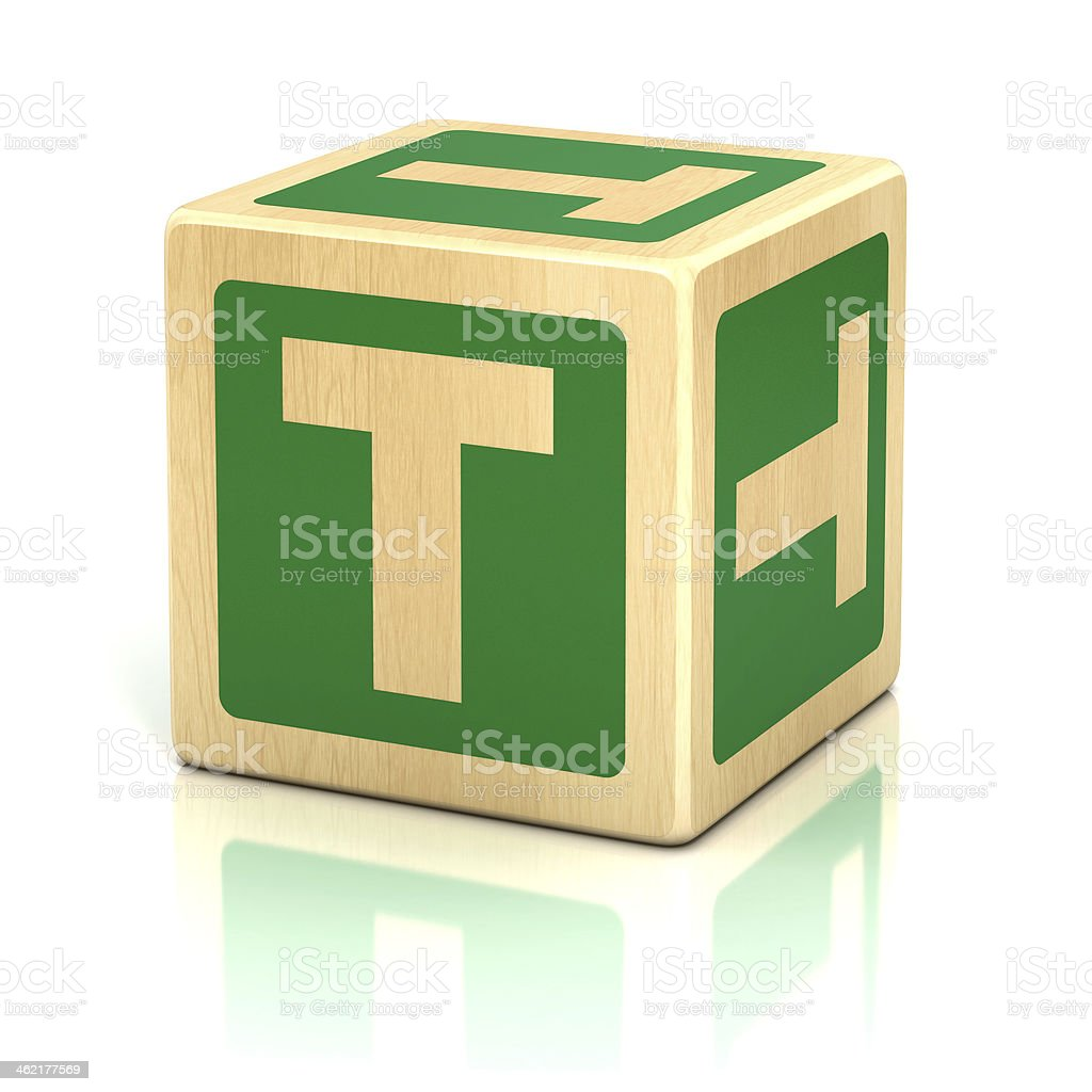 letter T alphabet cubes font stock photo