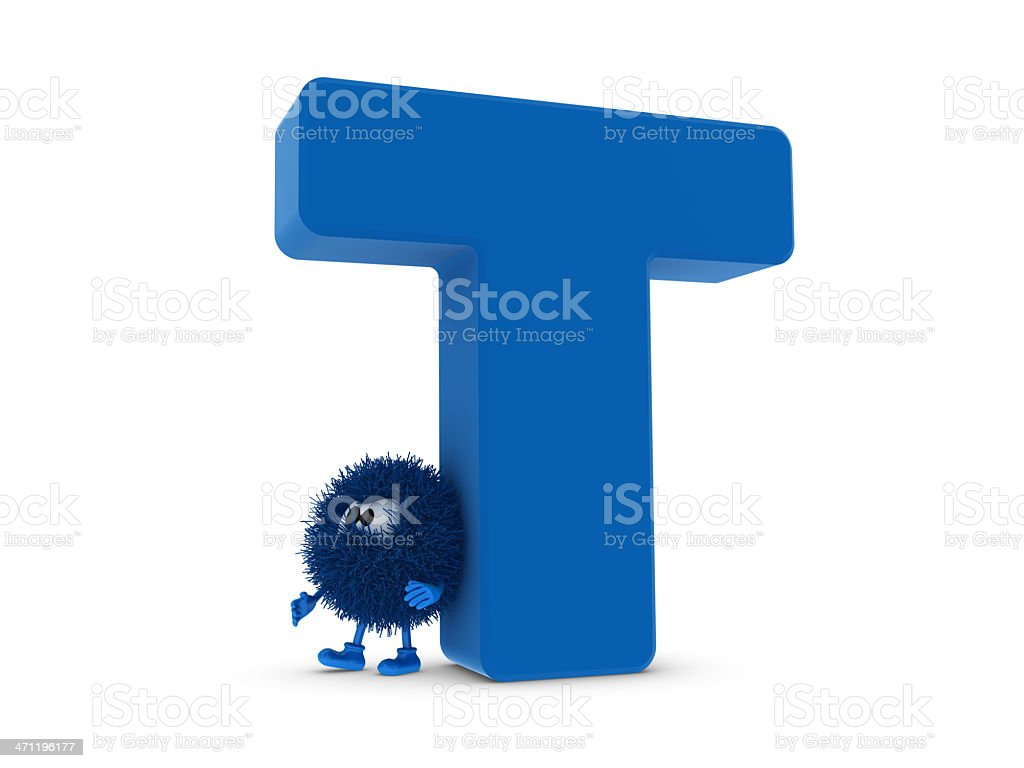 Letter T and Sphefur royalty-free stock photo