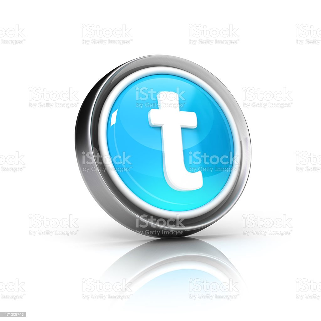 Letter t icon royalty-free stock photo