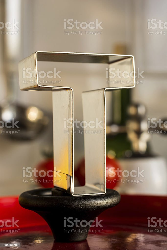 Letter T kitchen alphabet royalty-free stock photo