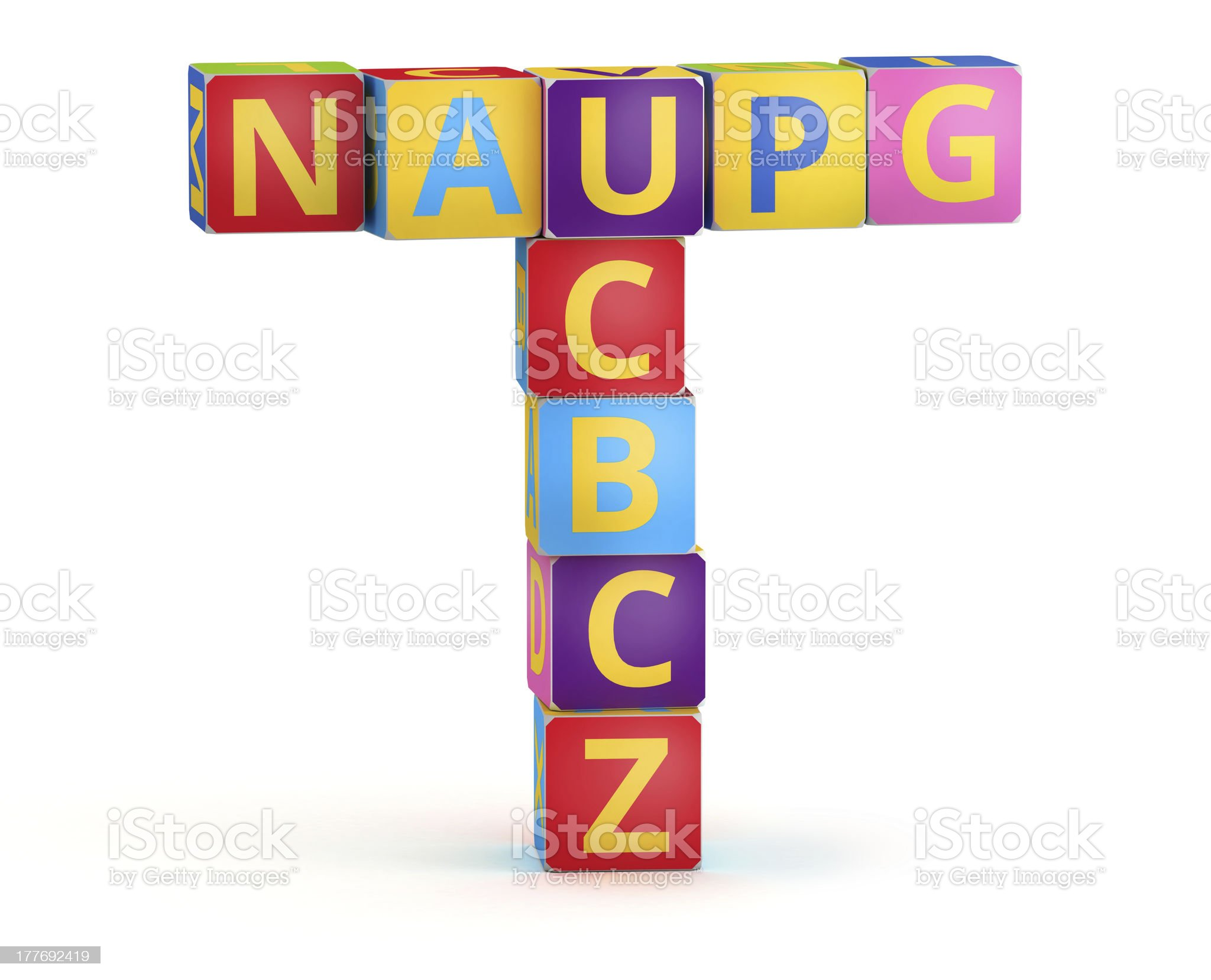 Letter T maked from abc cubes royalty-free stock photo