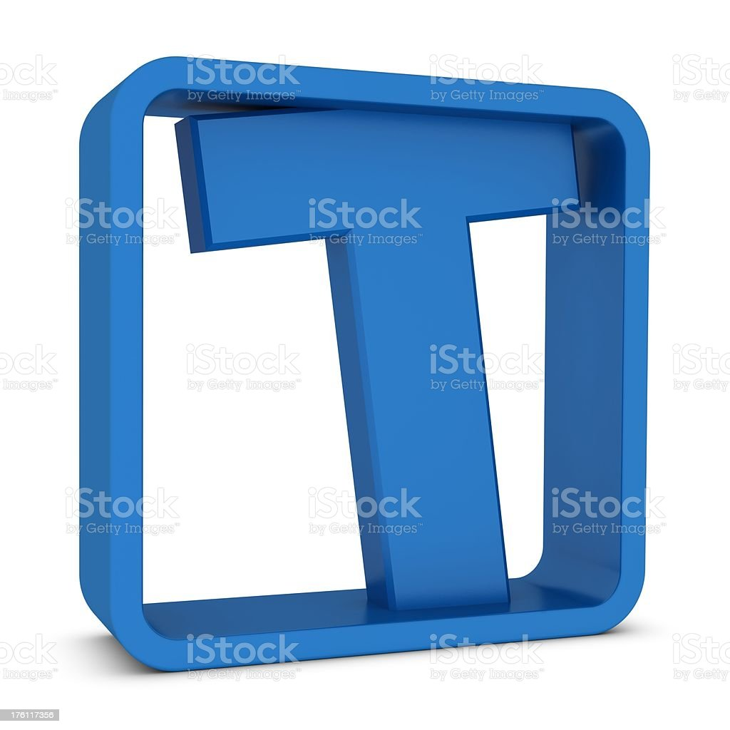 Letter T royalty-free stock photo