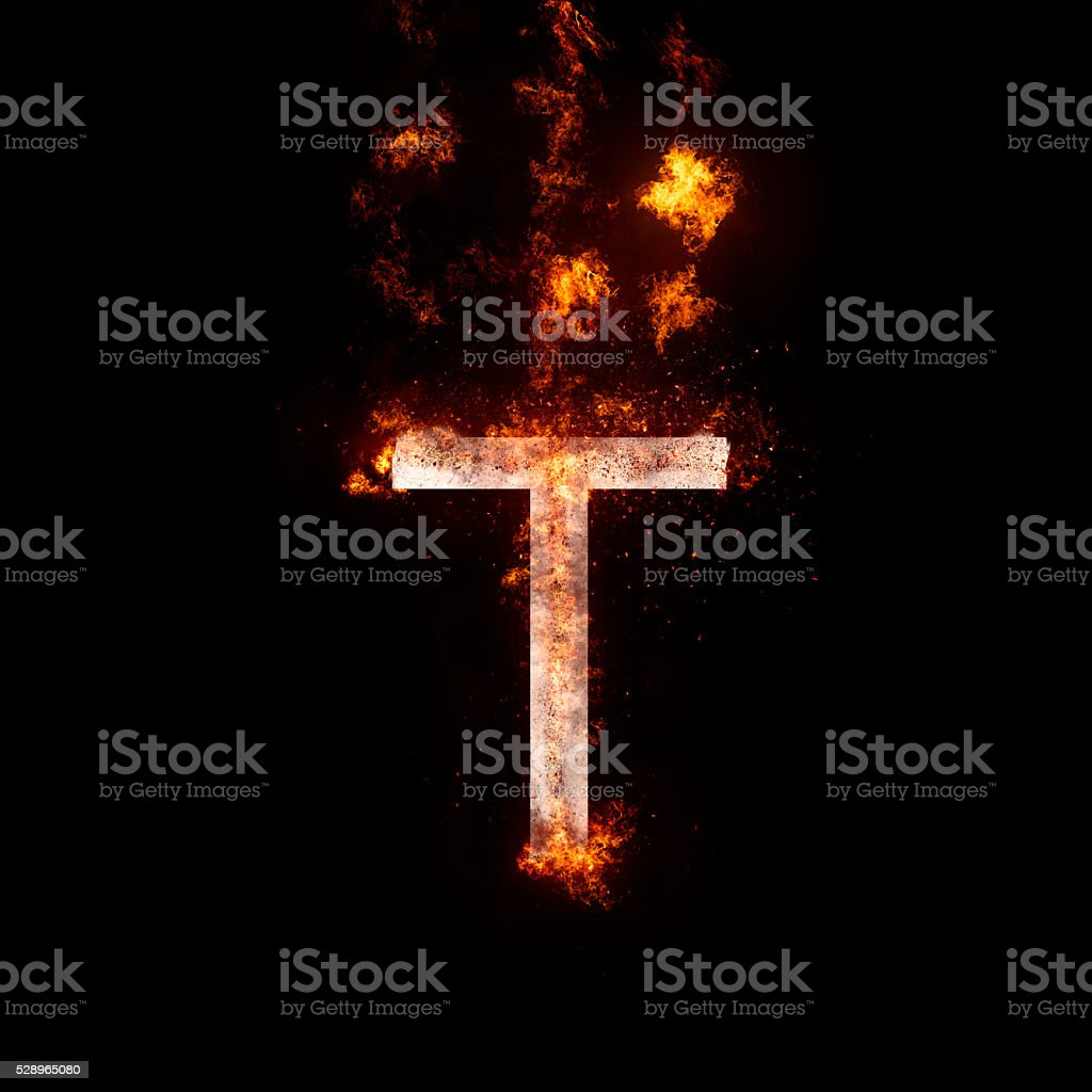 letter T stock photo