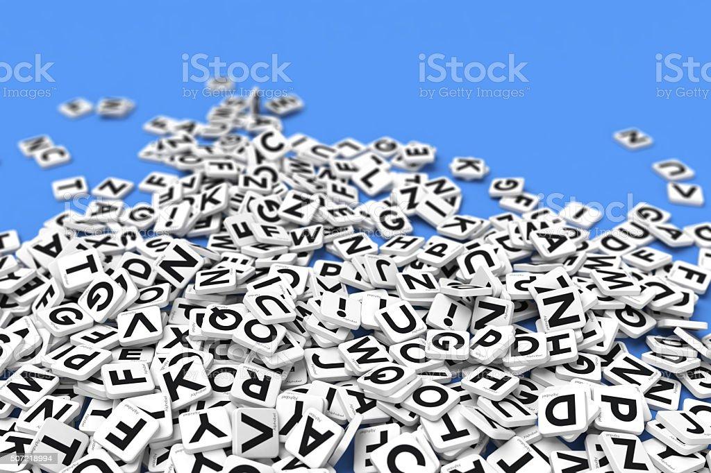Letter tile background stock photo
