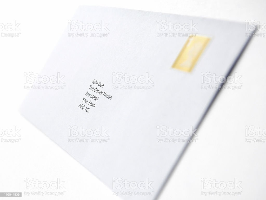 Letter to John stock photo