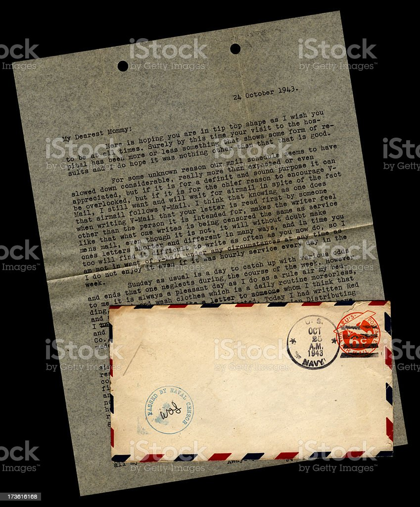 Letter to Mommy stock photo