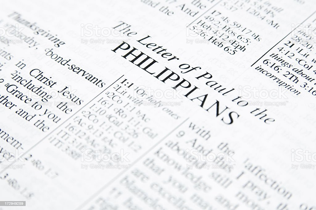 Letter to Philippians stock photo