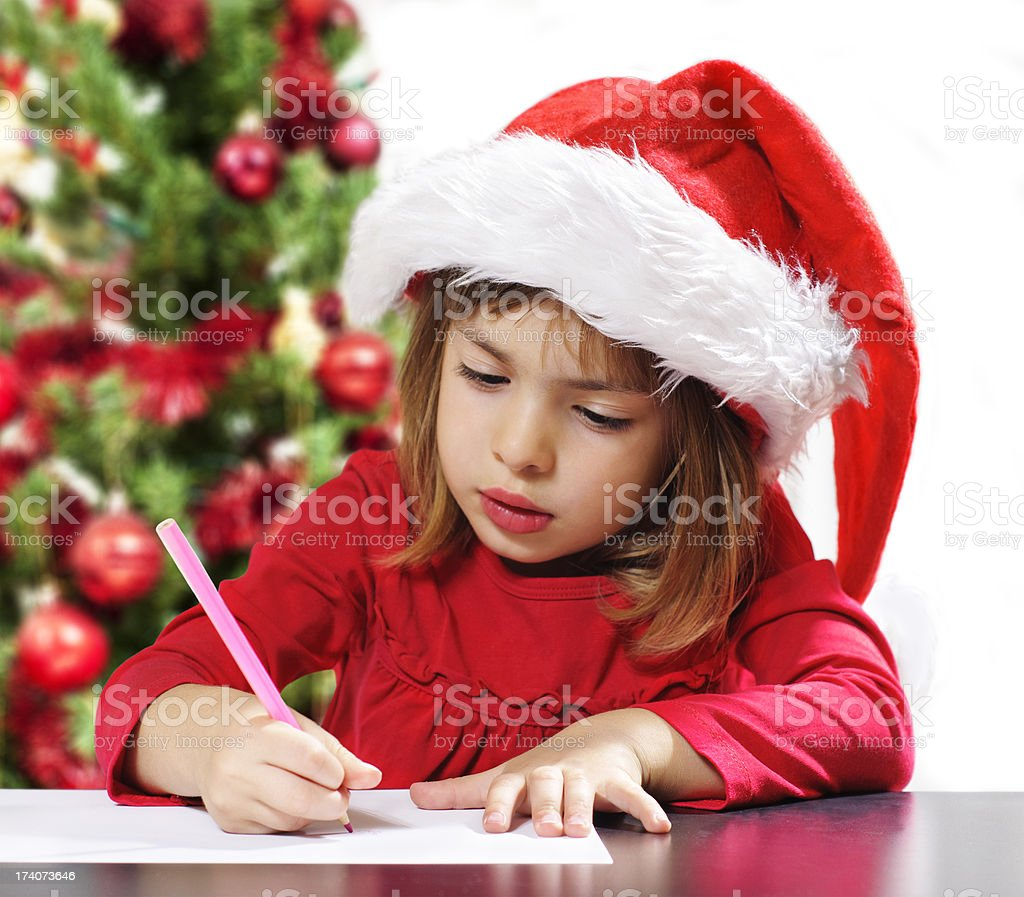 Letter to Santa Claus royalty-free stock photo