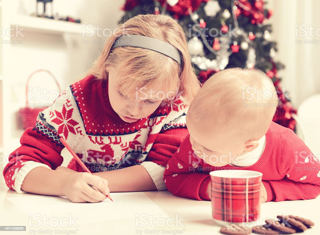 letter to Santa Claus stock photo