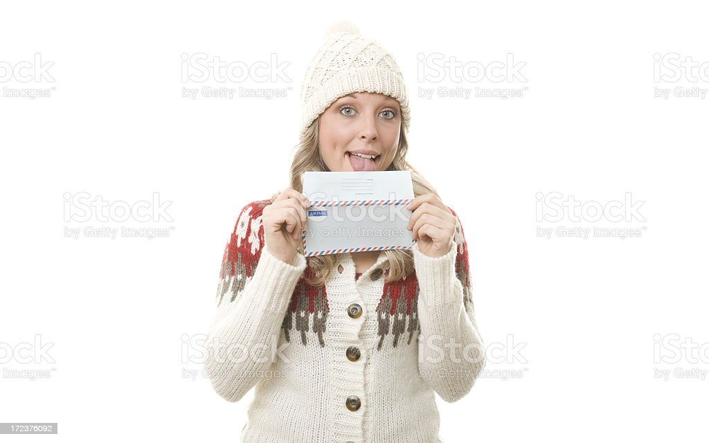 Letter to Santa royalty-free stock photo