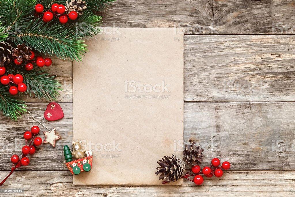 letter to santa stock photo