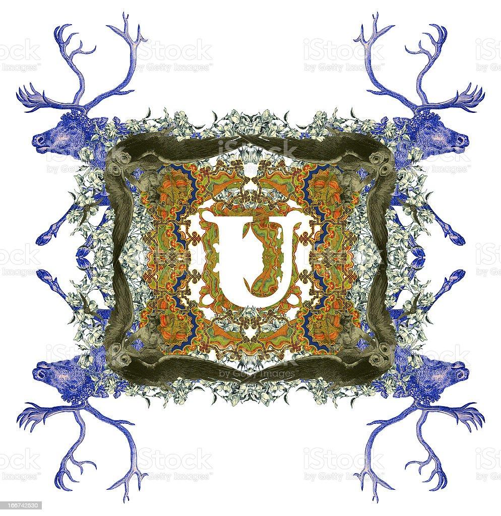 Letter U. royalty-free stock photo